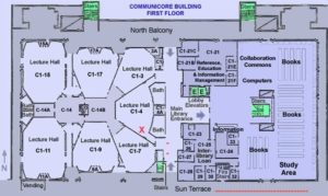 10-1 map of Communicore bldg